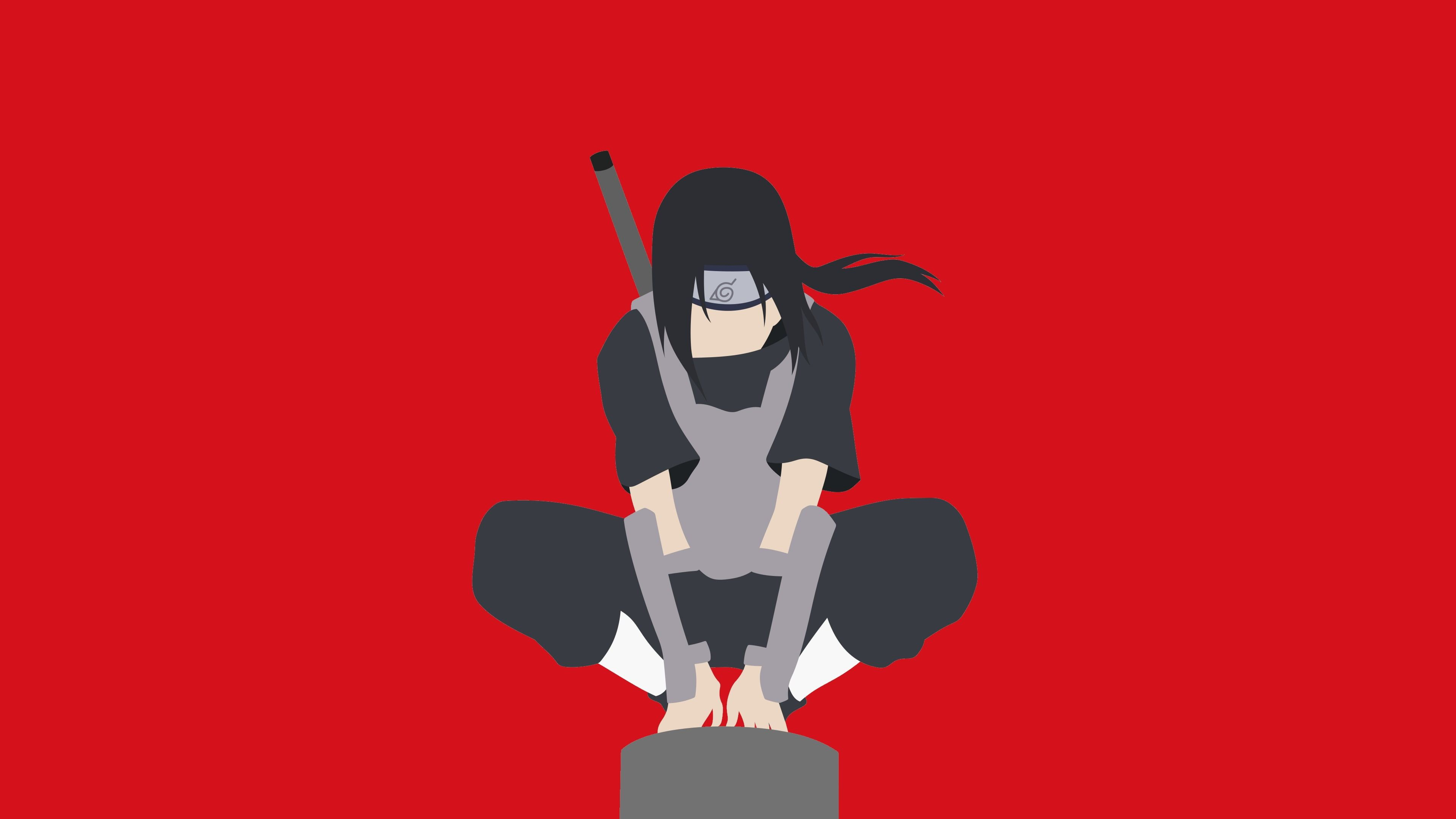 Ninja Illustration Anime Naruto Shippuuden Minimalism Uchiha Itachi 4k Wallpaper Hdwallpaper Desktop In 2020 Anime Bilder Itachi Itachi Uchiha