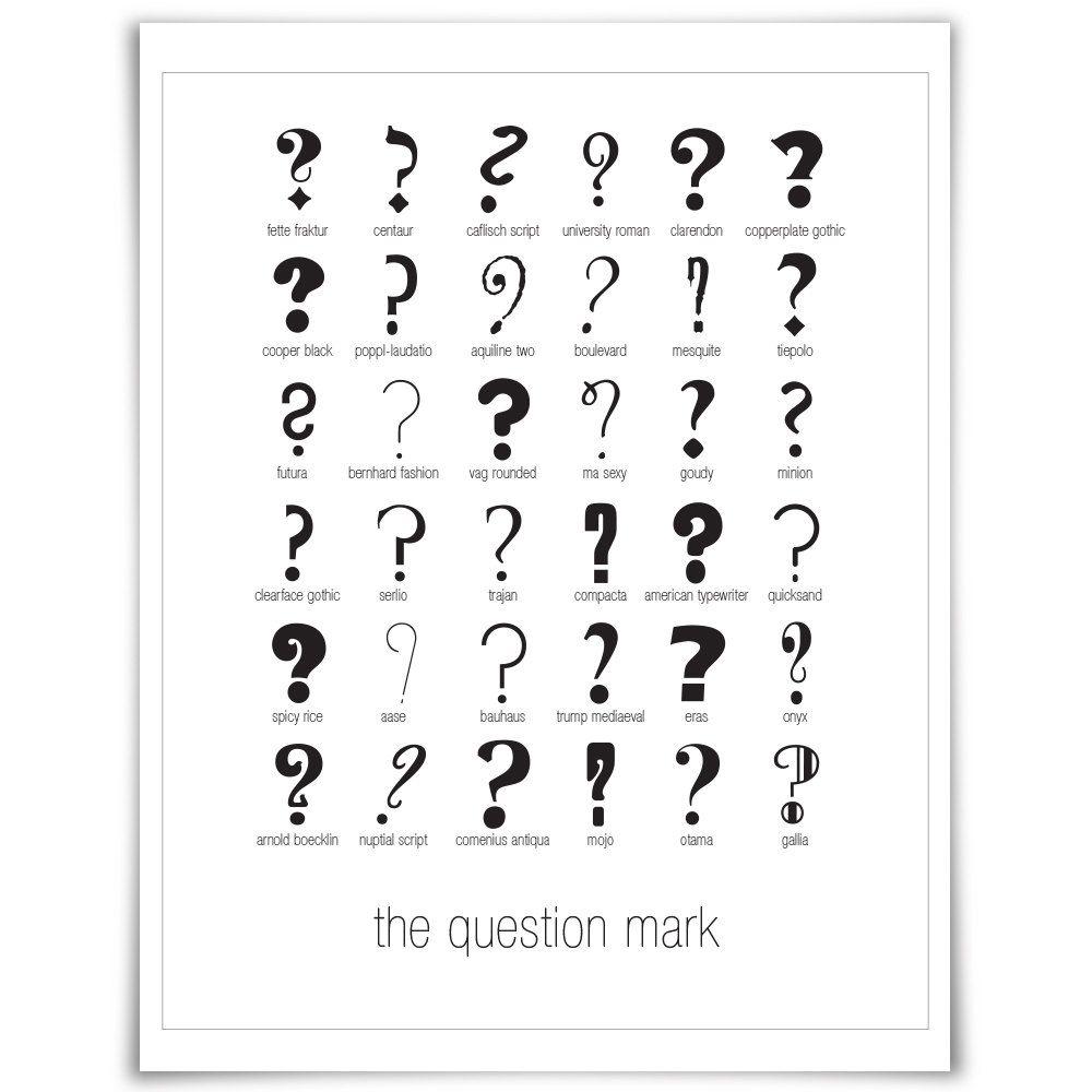 36 Question Marks #fontsunday