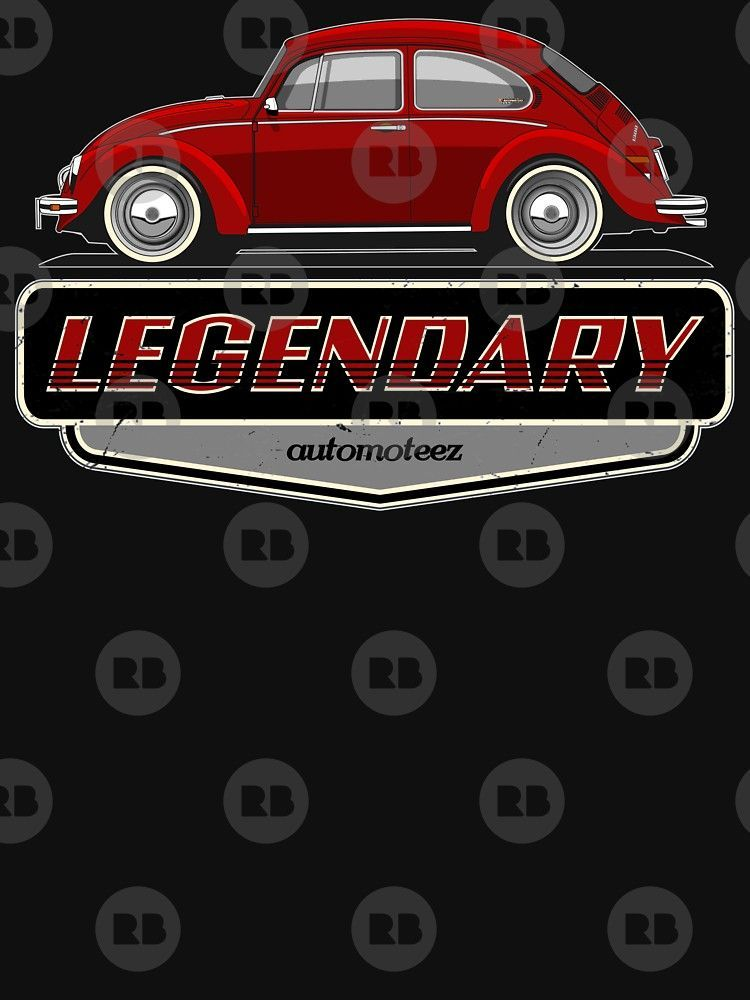 Legendary Classic Vw Red Bug Vintage Retro Cool German Car By Automoteez Car German Cars Retro Vintage