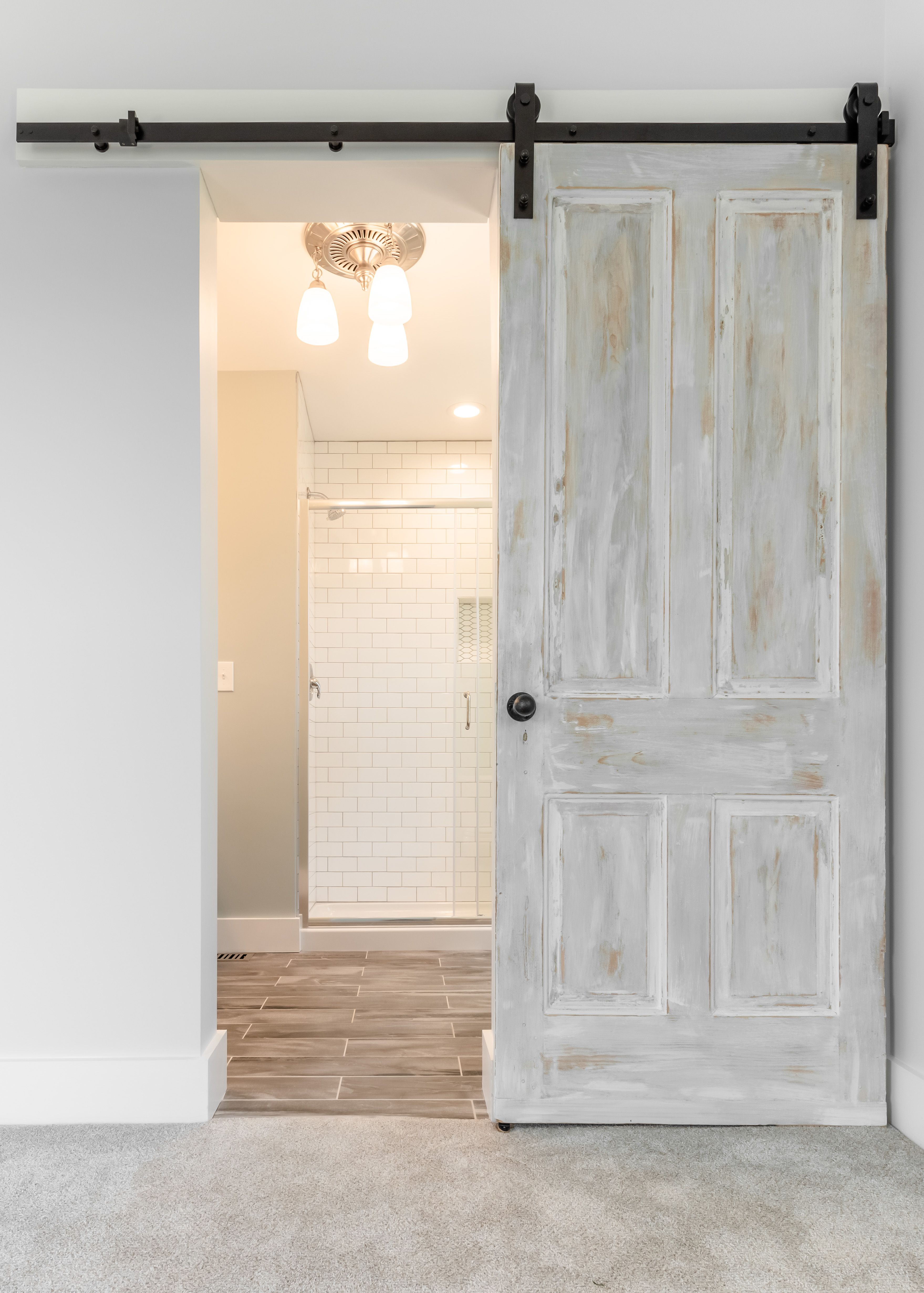 Best Lovely Barn Door Leads To Master Bathroom Garden District 400 x 300