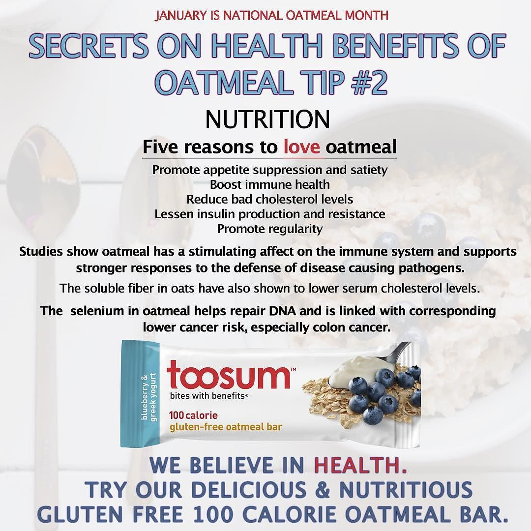 Oatmeal tip #2! #OatmealMonth Go to Toosum.com to select ...