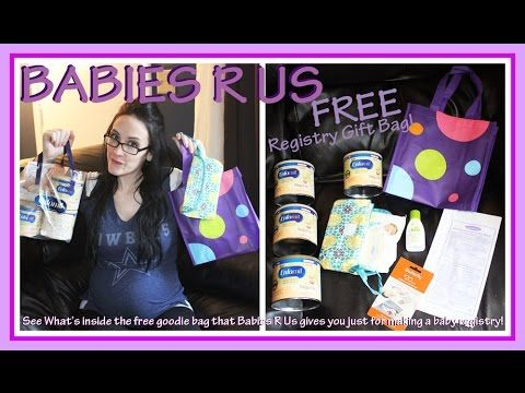 Babies R Us Baby Registry Gift Bag Whats Inside The Free Bag They Give Baby Gift Registry Baby Shower Registry Baby Registry Gift Bags