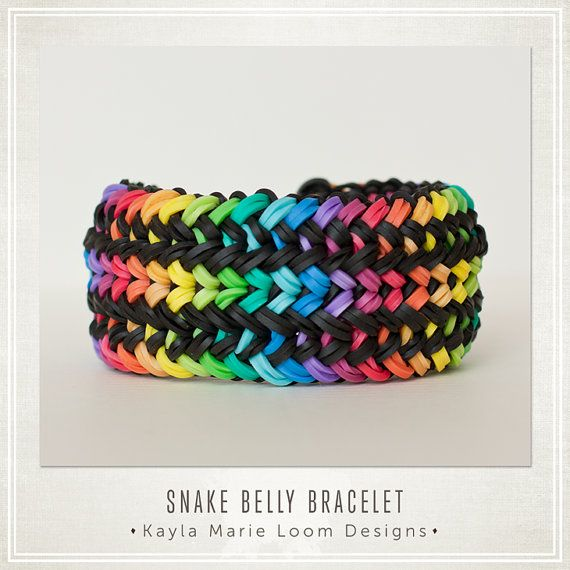 Rainbow Loom Snake Belly Bracelet