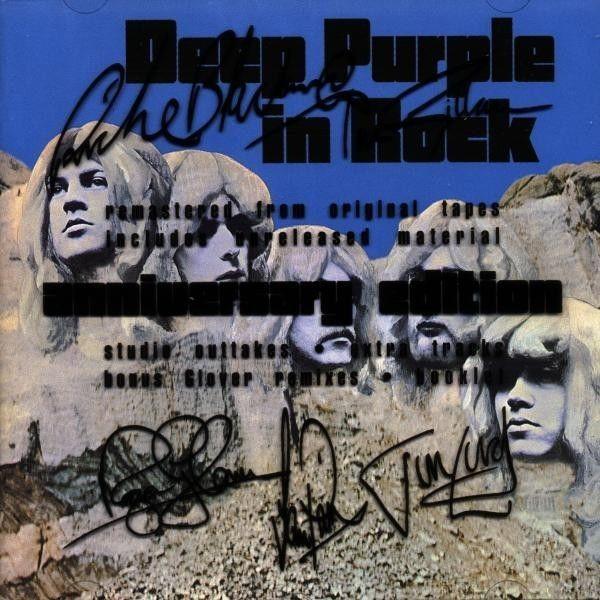 Deep Purple In Rock  Anniversary Edition  (Autografato) NUOVO SIGILLATO!!!