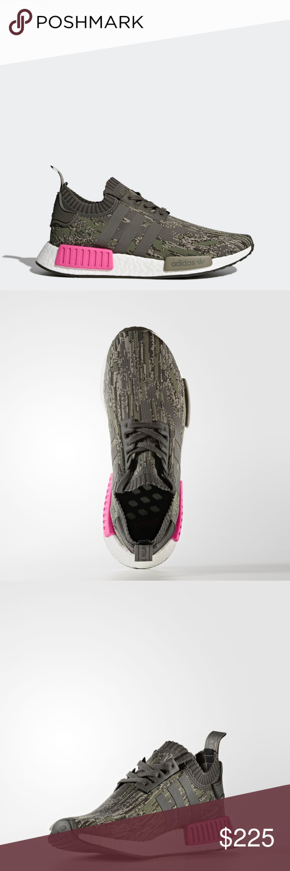 ef7510875 Adidas NMD R1 Utility Gray Camo ~ Pink adidas NMD R1 PK