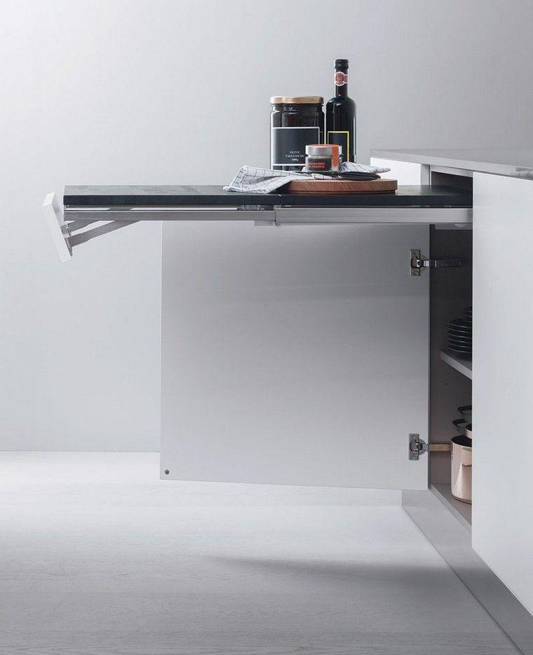 Plan De Travail Escamotable Pour Optimiser L Interieur De Cuisine Unterschrank Kuche Kuchen Design Kuchen Design Ideen