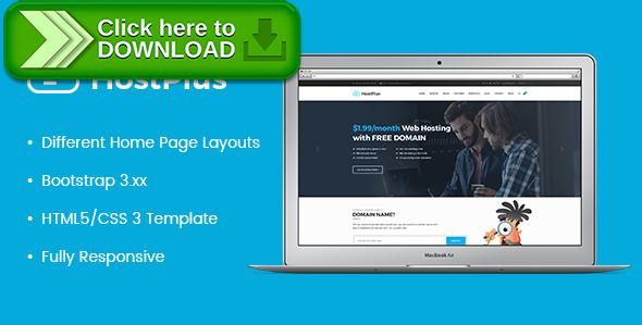 ThemeForestFree nulled download HostPlus - Responsive Host HTML5 - html5 template tag
