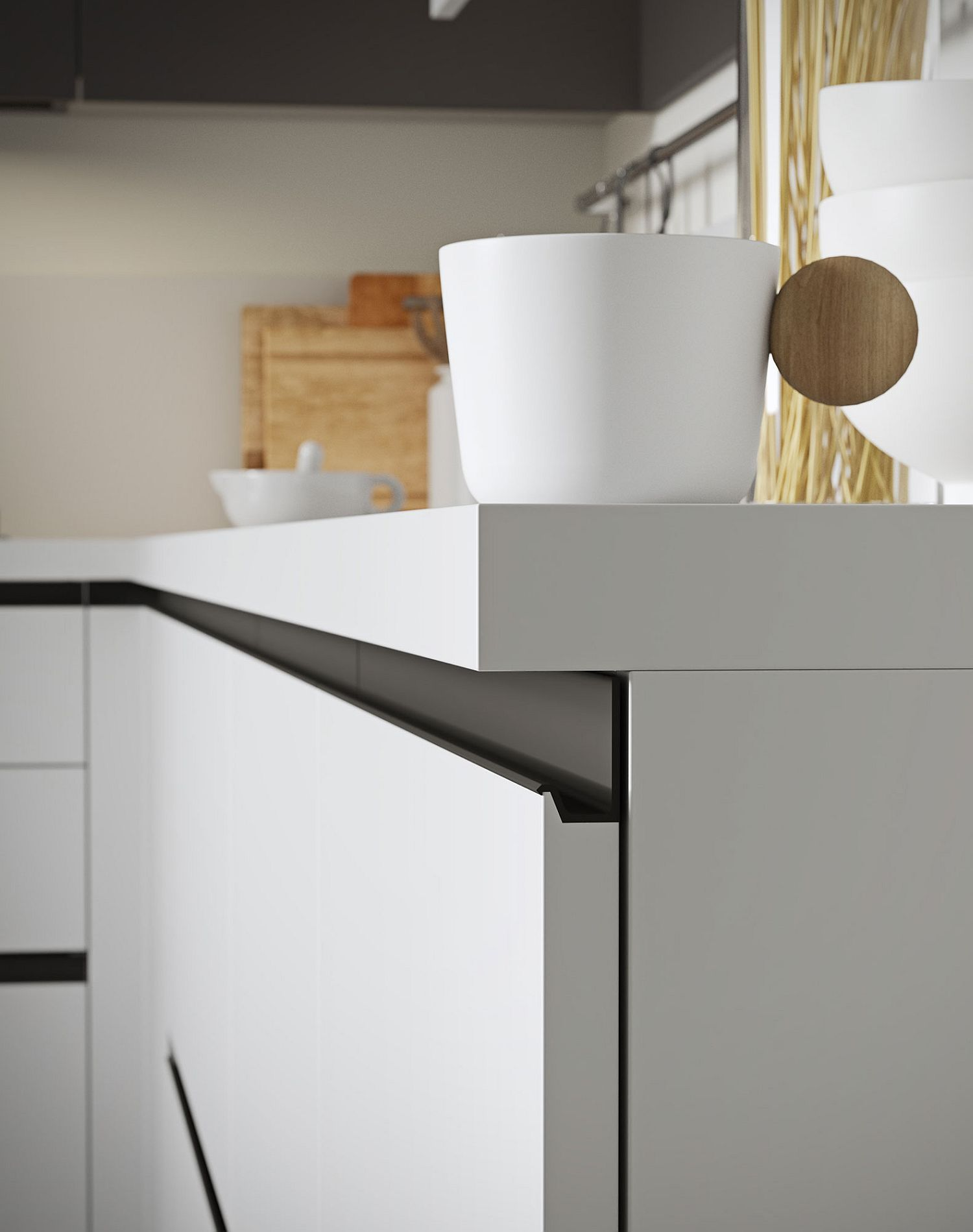 Handle Less Doors Design Adds To The Minimal Charm Of Joy From Snaidero Kitchen Furniture Design Interior Design Kitchen Handleless Kitchen Cabinets