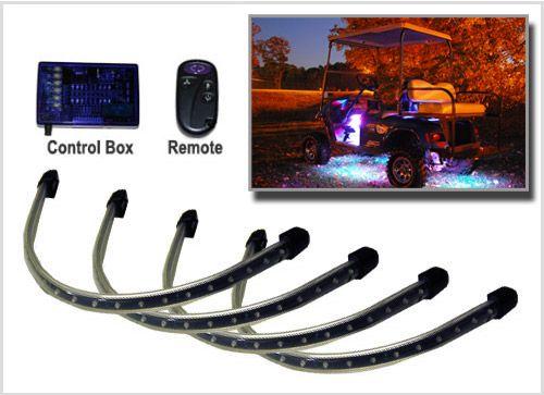 Million Color Ledglow 4pc Led Golf Cart Underbody Neon