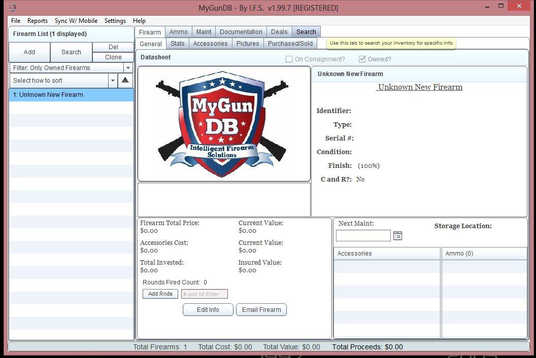 Firearms Inventory Spreadsheet