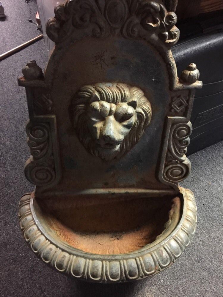 Details About Victorian Antique Cast Iron Lions Head Wall