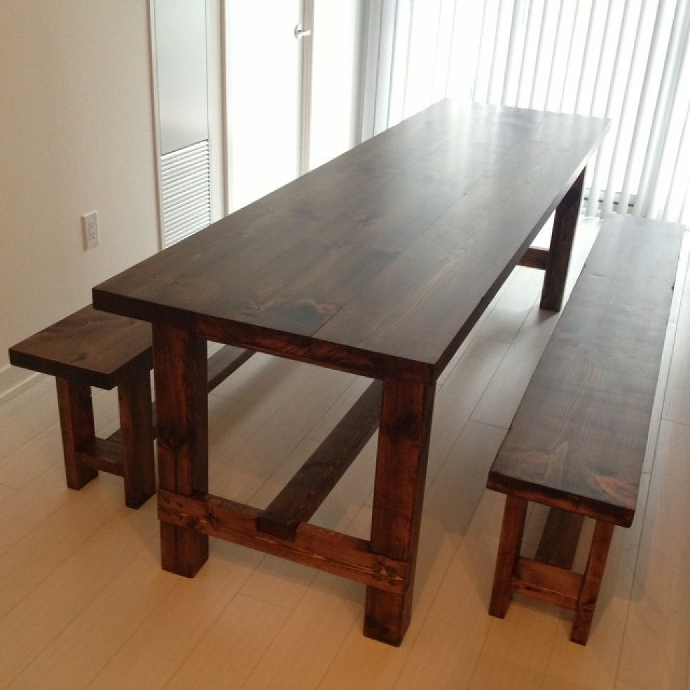 Diy farmhouse table bench farmhouse table with bench