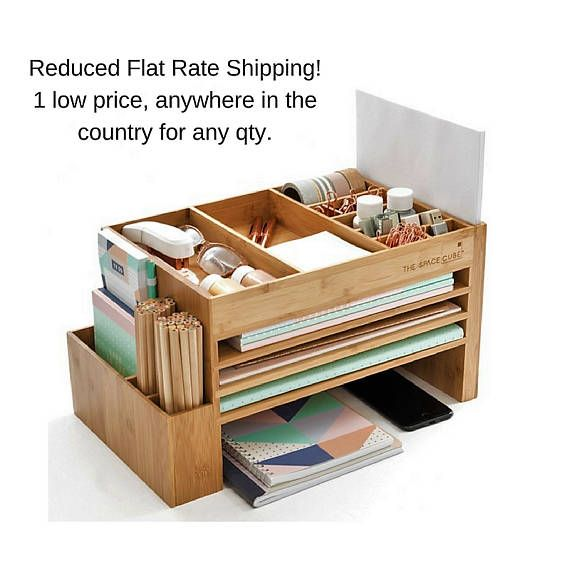 Wooden Stationery Paper Organiser Cute Desk Accessories Multi Compartment Storage Document File Trays Desk Organization Desk Accessories Storage