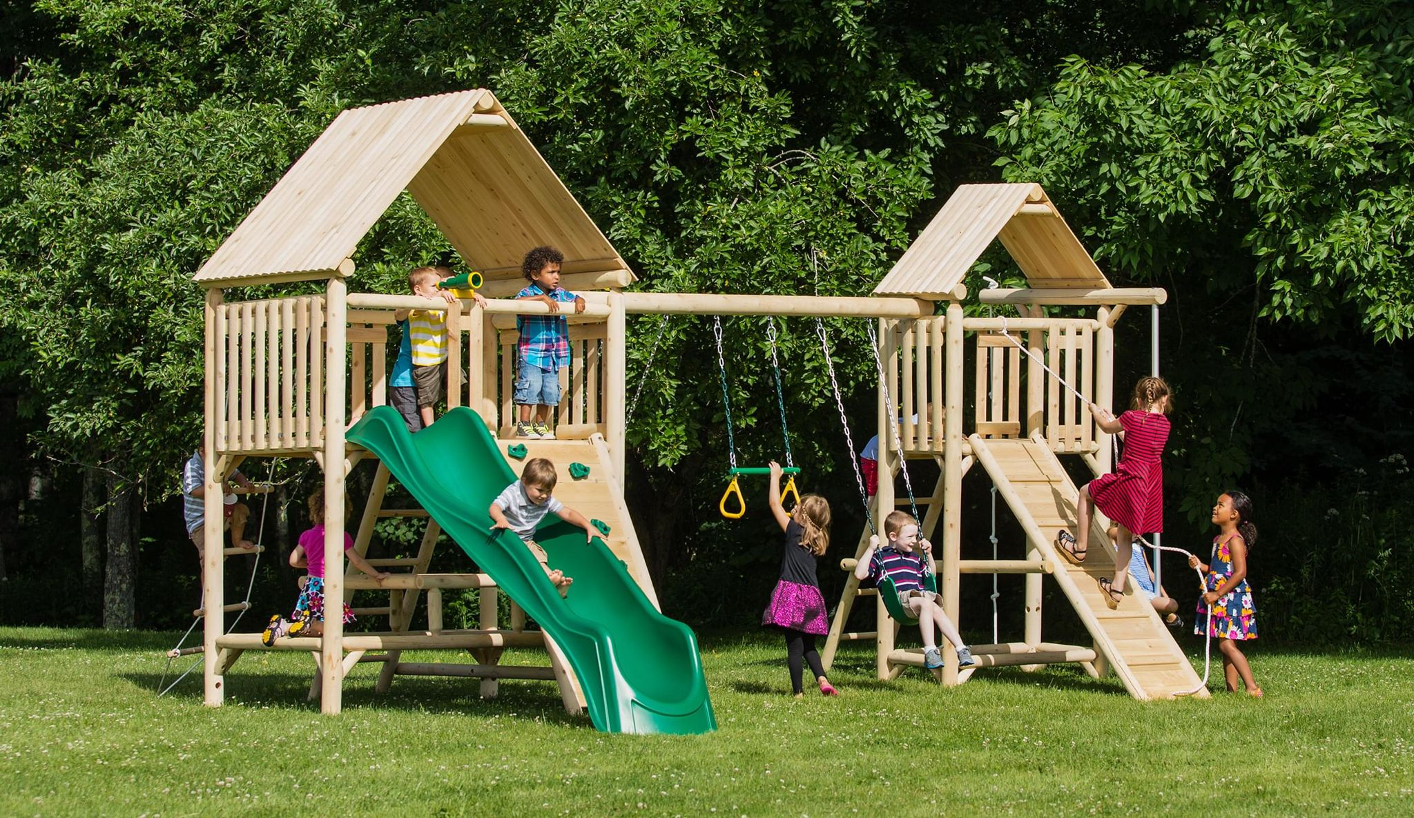 play a round lookout cedar playset is splinter free chemical free
