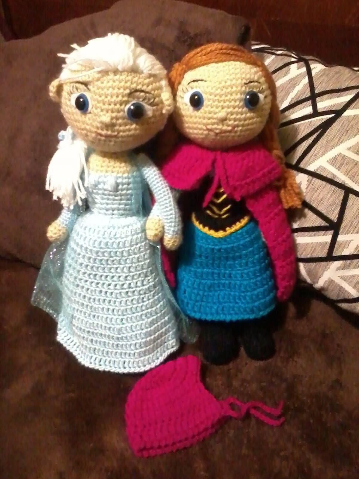 Amigurumi Elsa Y Ana : Version Elsa y Ana (frozen) Amigurumi nukkeja ...
