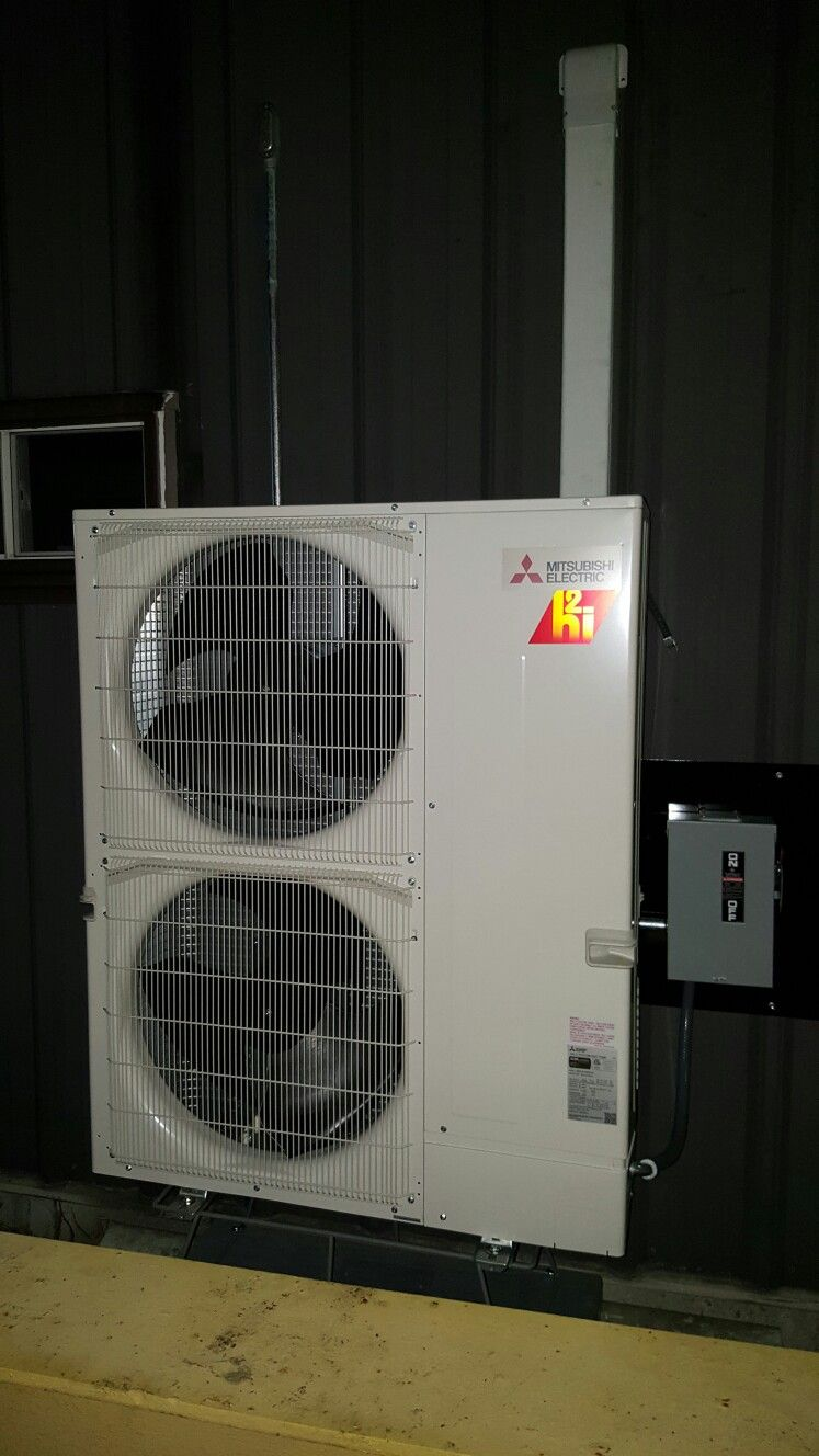Hyper Heat Mitsubishi Outdoor Unit Of A 5 Zone System Installed In