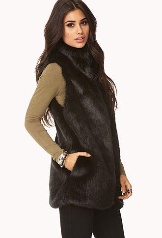 Posh Faux Fur Vest | FOREVER 21 - 2000110857