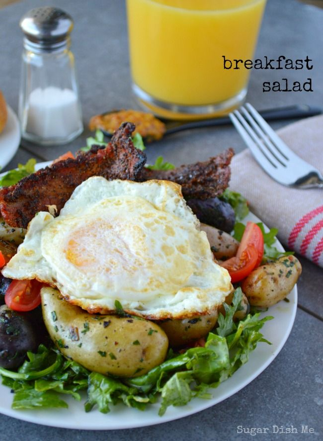 Bacon and Egg Breakfast Salad