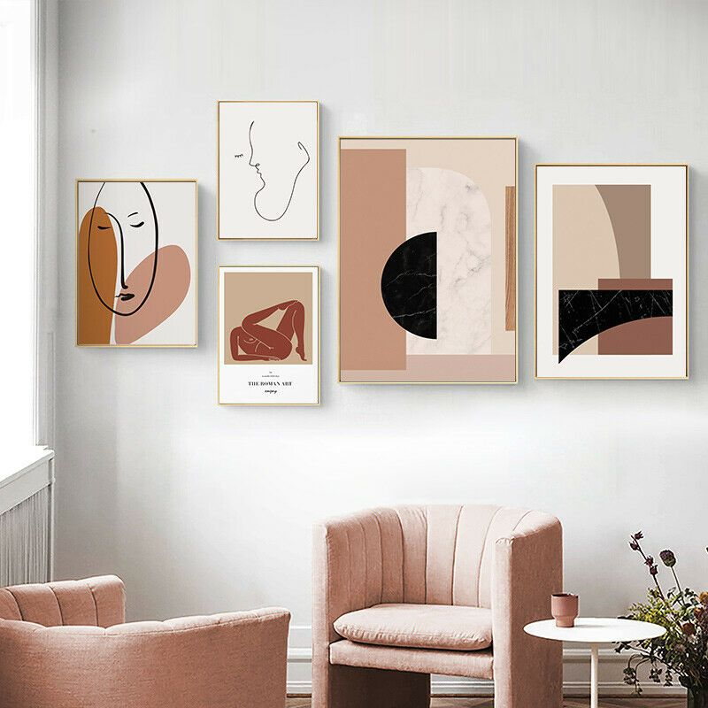 Abstract Poster Wall Art Canvas Minimalist Print Modern Living Room Decoration In 2020 Room Wall Decor Modern Wall Art Wall Art Pictures