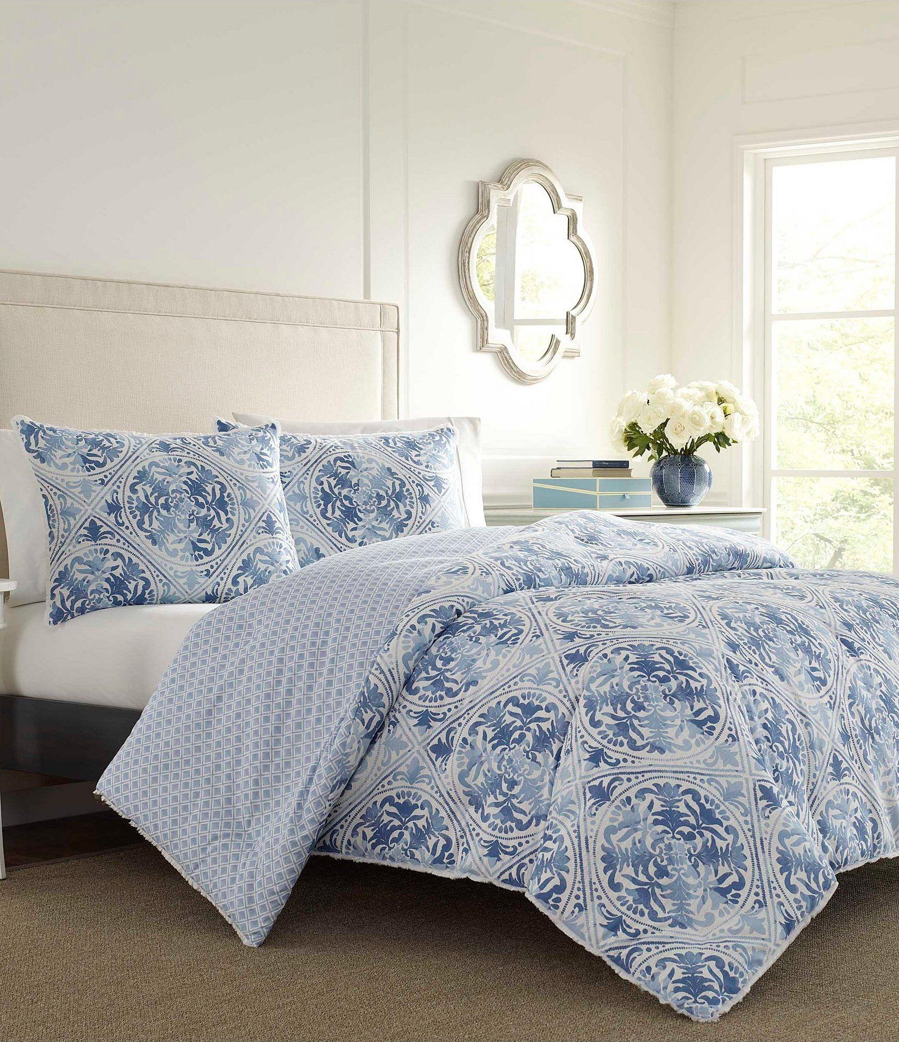 Laura Ashley Mila Duvet Mini Set In 2020 Blue Comforter Sets