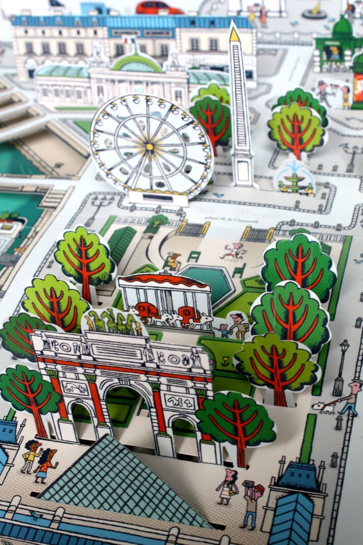 pop up paris map book by sylvie bessard paris editions milan