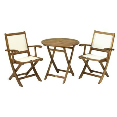 debenhams acacia wood york folding table and henley chairs set