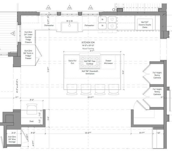 Kitchen Floor Plan Kitchen Plan As This Floor Plan Shows The Simple But Well Detailed Layout Makes Ev Kitchen Layout Plans Kitchen Floor Plans Kitchen Plans