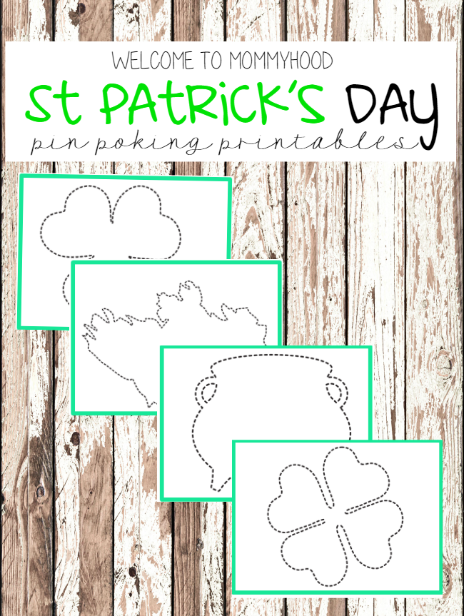 St Patrick\'s Day Push Pin Printables (Welcome to Mommyhood)