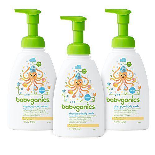 Babyganics Baby Shampoo And Body Wash Fragrance Free 3 Pack