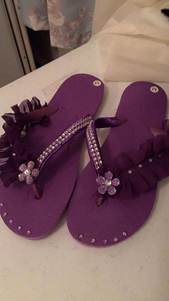 cc52c3f8f398d3 Pin by I m Loving Beads Nancy Gound on Very Crafty Flip Flops ...