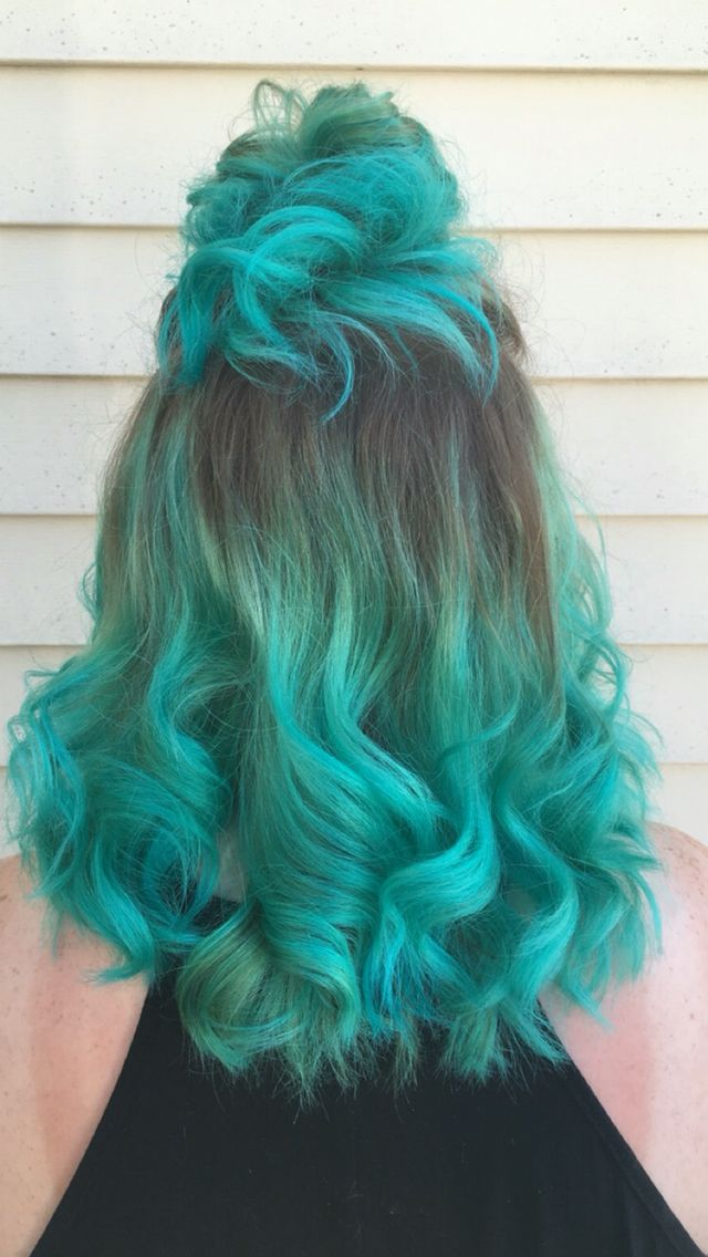 Manic Panic Mermaid Green Hair Dyed Hair Hair Color