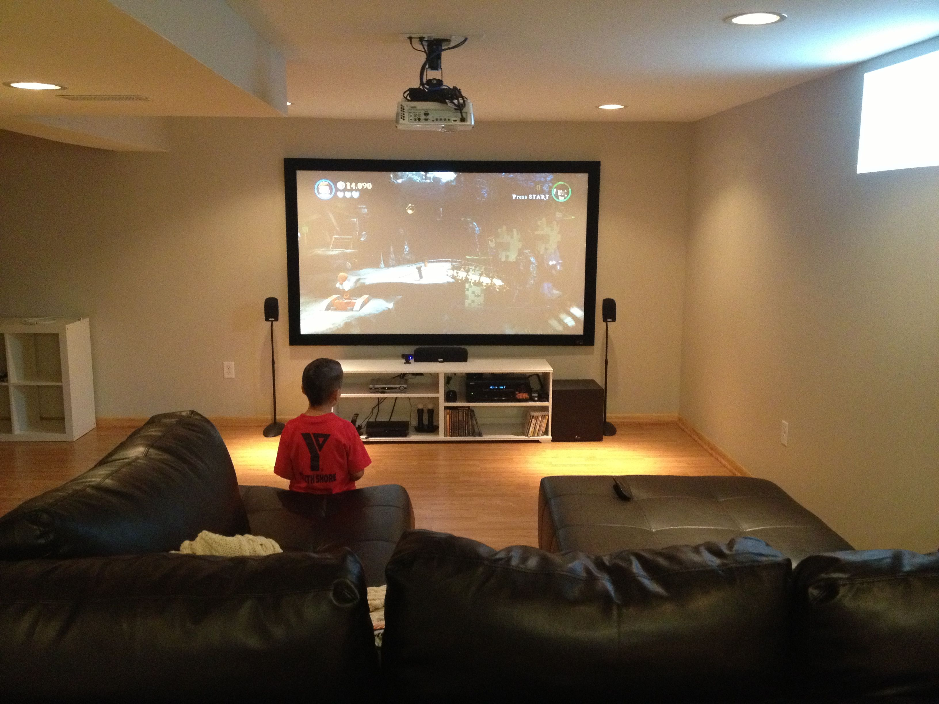 Basement Theater 92 Screen Denon Receiver Polk Speakers Benq Projector Living Room Theaters Home Cinema Room Tv Room #projector #for #living #room #instead #of #tv