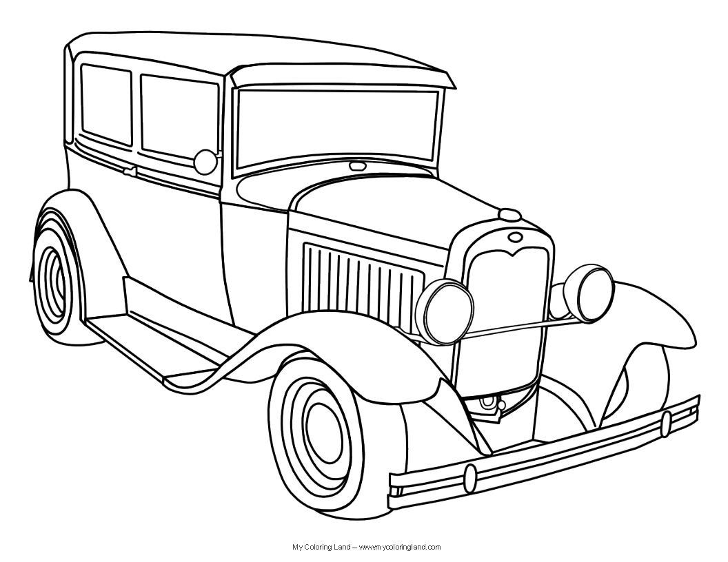 Cool Pictures Of Cars To Color