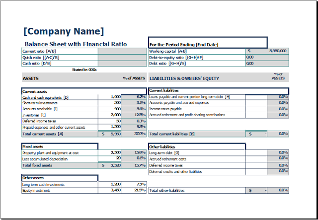 printable blank balance sheet template download free balance sheet