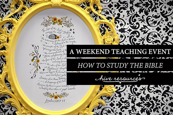 A teaching event on how to study God's Word   Must-Follow ...