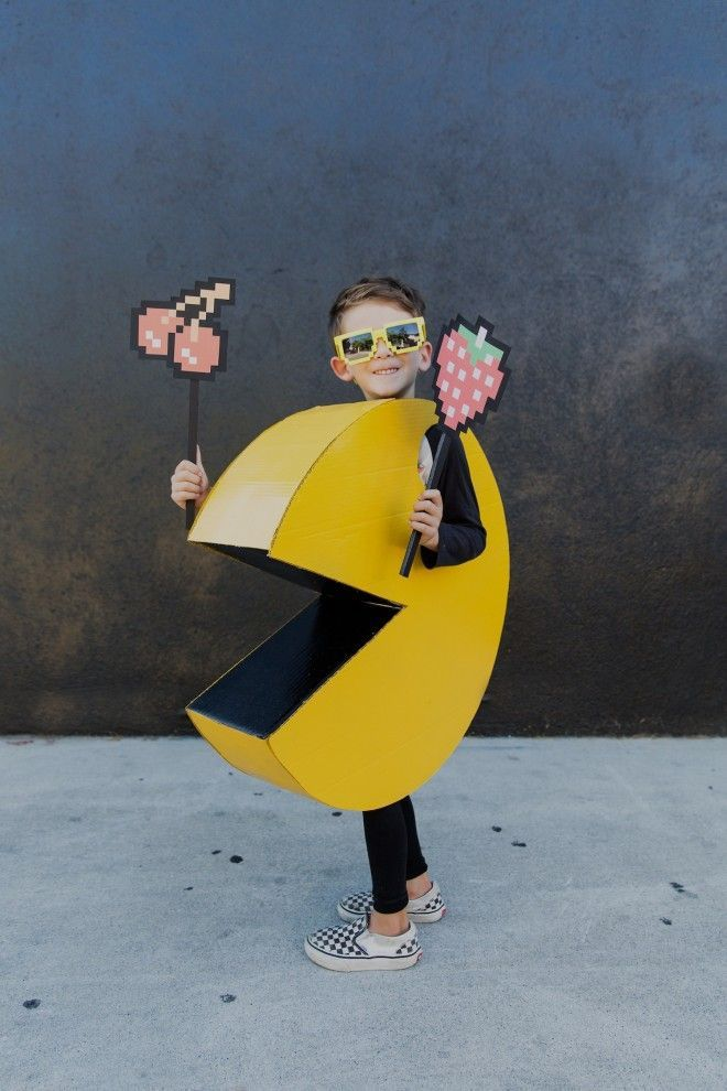 diy kids pac man halloween costume halloween make a pac man halloween costume dollar store crafts