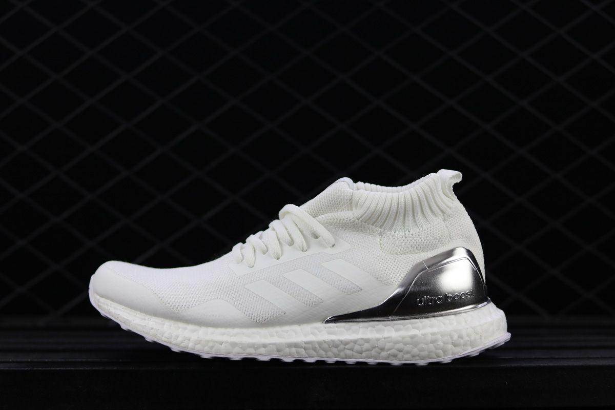 fffdf047a 2018 Ronnie Fieg Kith x adidas Ultra Boost Mid White Silver For Sale – New  Yeezy