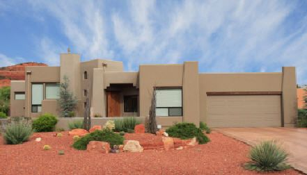 More Conventional Adobe House Decorating A New Home Garage