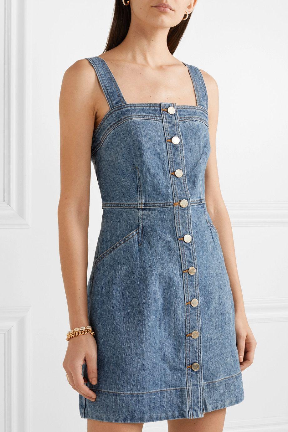 Michael Michael Kors Denim Mini Dress Net A Porter Com Denim Mini Dress Mini Dress Casual Clothes [ 1380 x 920 Pixel ]