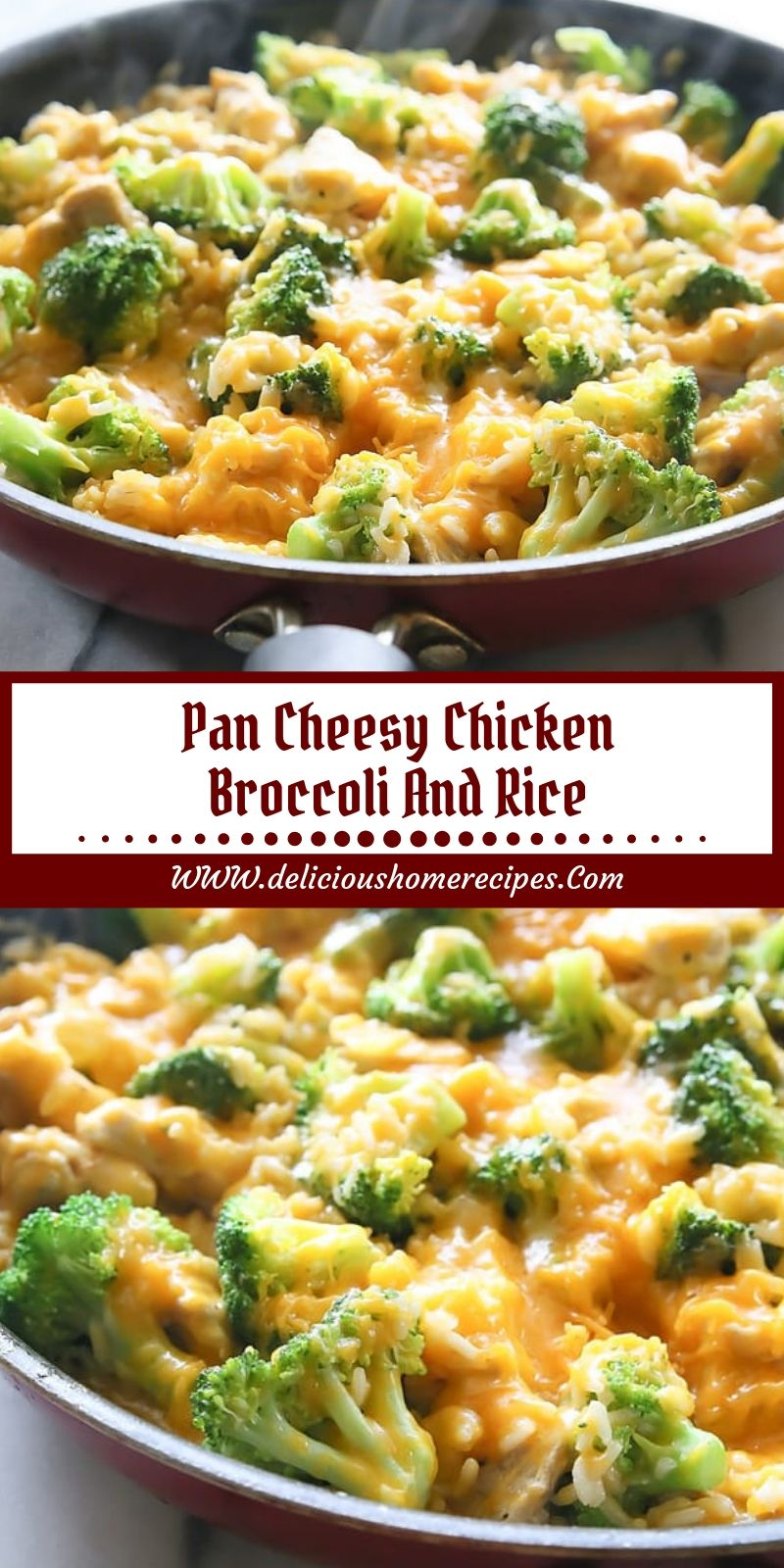 Pan Cheesy Chicken Broccoli And Rice images
