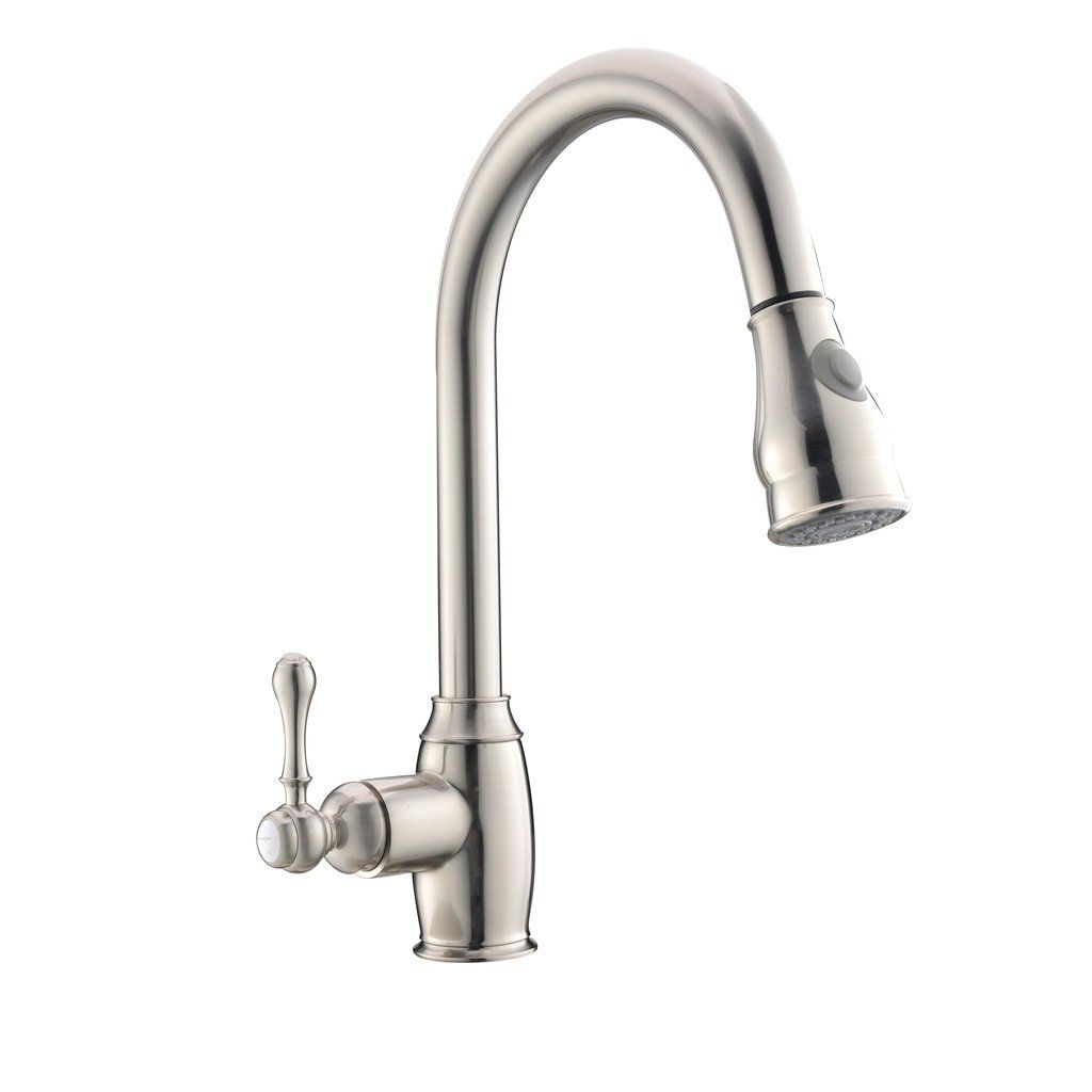 Best Antique Stainless Steel Brushed Nickel Single Handle Pull Out ...