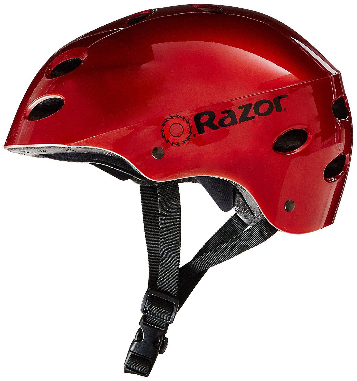 e52b80b74e3 Amazon.com : Razor V-17 Youth Multi-Sport Helmet, Gloss Black : Skate And  Skateboarding Helmets : Sports & Outdoors