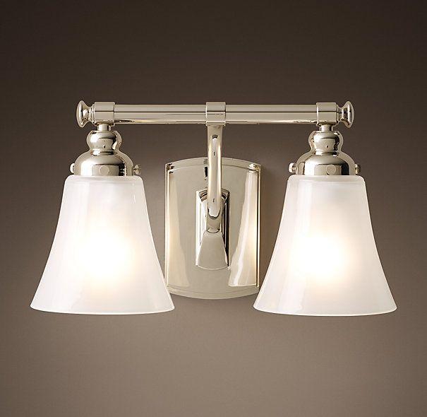 6) Bistro Double Sconce, Polished Nickel, $169, 120 Watts Max · House  LightingBathroom ...