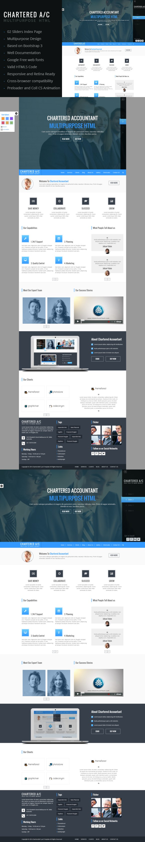 Chartered A/C Multipurpose HTML. Bootstrap Templates. $20.00 ...