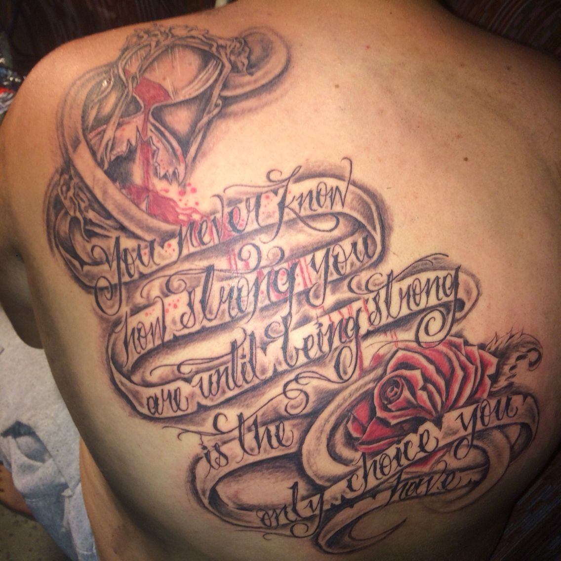 My Back Piece Hourglass Broken Rose And Quote Friendship Tattoos Tattoo Quotes Tattoos