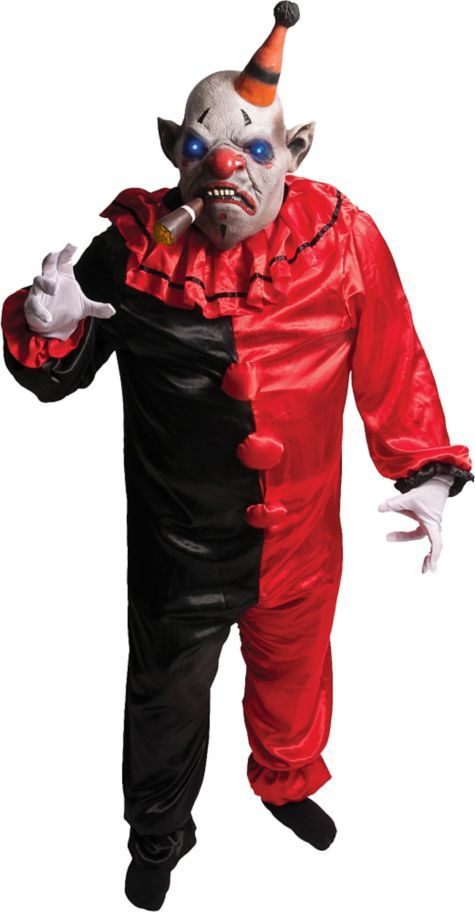 Adult Light,Up Smokey the Scary Clown Costume , Party City