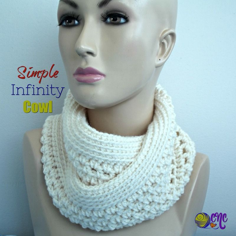 Free Crochet Pattern For A Simple Infinity Cowl You Only Need One