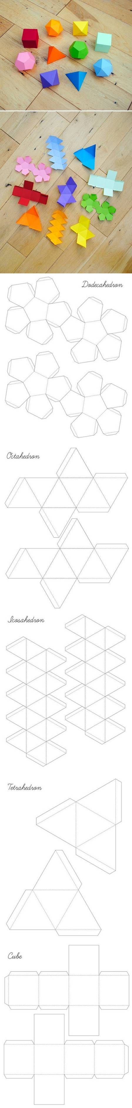 i mathematics platonic solids garland bastelt pinterest origami basteln und basteln. Black Bedroom Furniture Sets. Home Design Ideas