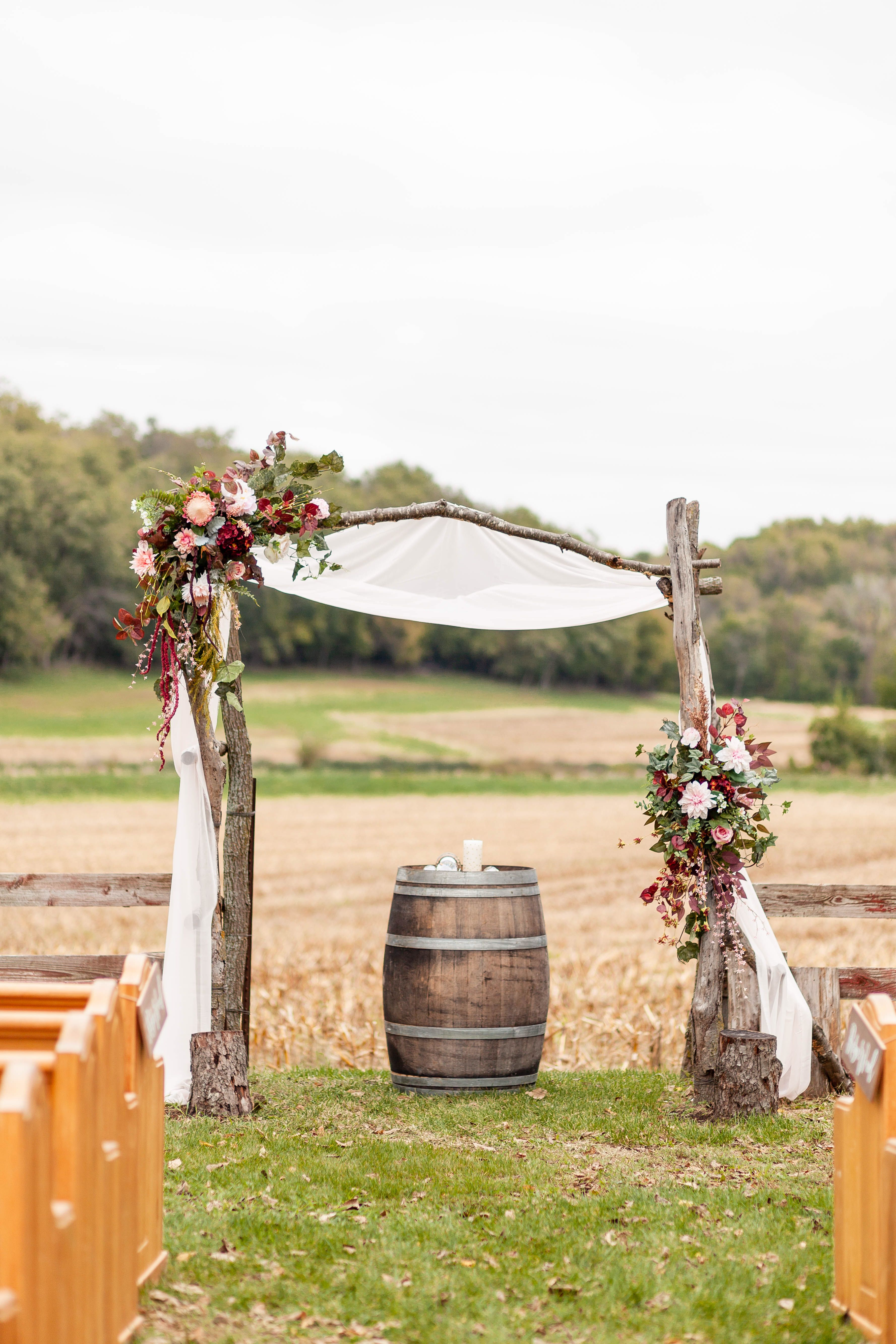 Rustic Outdoor Ceremony Decor Ceremony Decorations Outdoor Wedding Photographer Chicago Chicago Suburbs Wedding