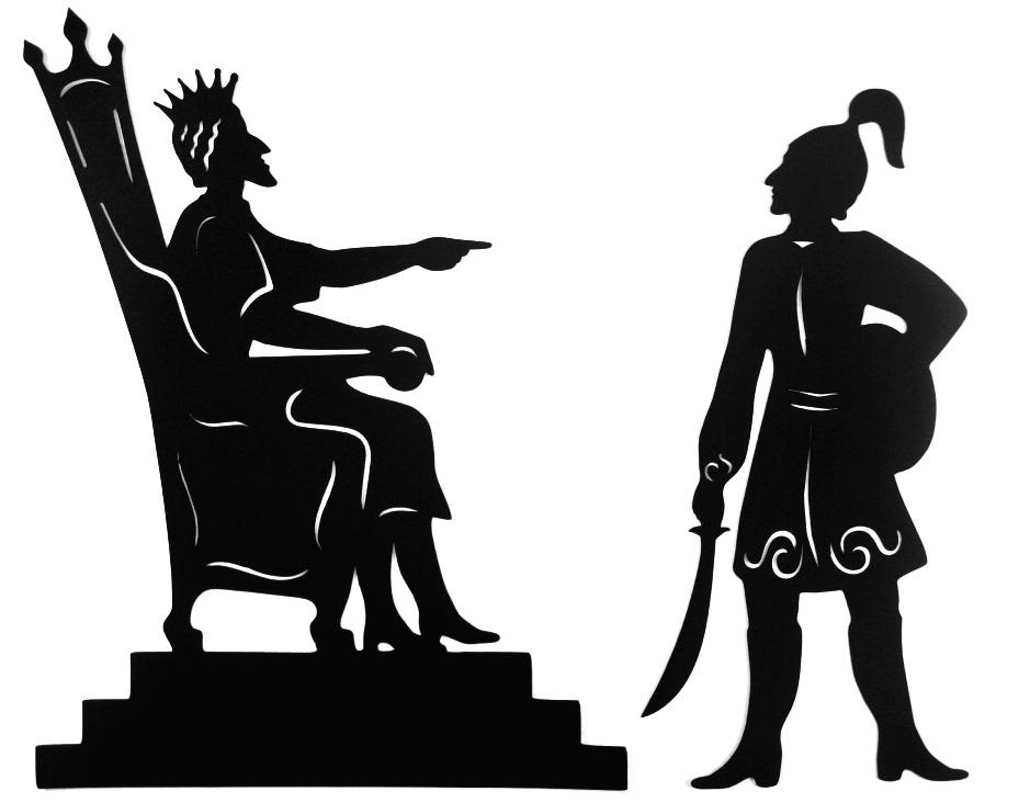 картинка король трафарет вот при печати